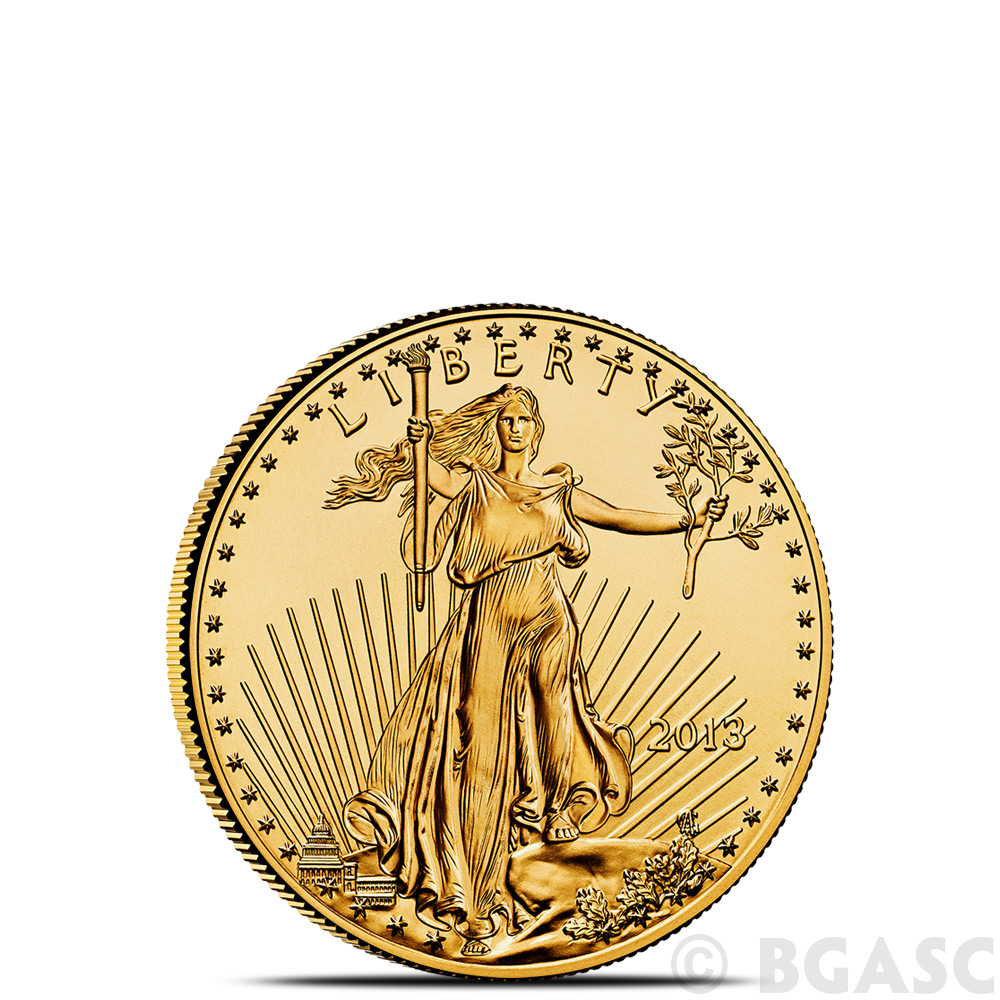 1 10 Oz Gold American Eagle 5 Coin