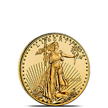 1/10 oz Gold American Eagle $5 Coin Brilliant Uncirculated Bullion (Random Year)