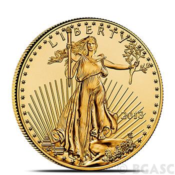 1/2 oz Gold American Eagle $25 Coin Brilliant Uncirculated Bullion (Random Year)