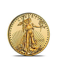 1/4 oz Gold American Eagle $10 Coin Brilliant Uncirculated Bullion (Random Year)