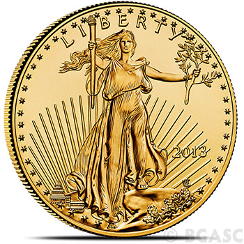 1 oz Gold American Eagle $50 Coin Brilliant Uncirculated Bullion (Random Year)