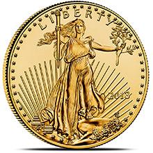 1 oz Gold American Eagle $50 Coin Brilliant Uncirculated Bullion (Random Year)