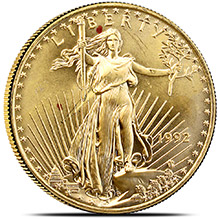 1 oz Gold American Eagle $50 Bullion Coin -  Circulated / Scuffed (Random Year)