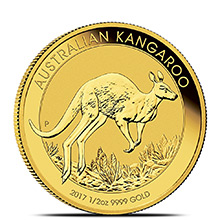 2017 Australia 1/2 oz Gold Kangaroo Bullion Coin .9999 Fine Brilliant Uncirculated