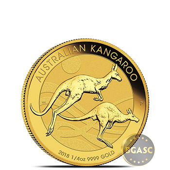 2018 Australia 1/4 oz Gold Kangaroo Bullion Coin .9999 Fine Brilliant Uncirculated