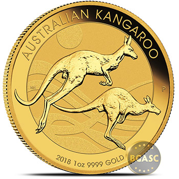 2018 Australia 1 oz Gold Kangaroo .9999 Fine Brilliant Uncirculated Bullion Coin - Image