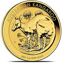2021 1 oz Gold Australia Kangaroo .9999 Fine Brilliant Uncirculated Coin