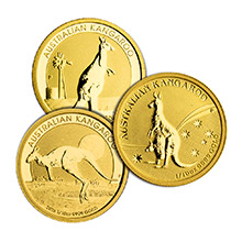 Australia 1/10 oz Gold Kangaroo/Nugget .9999 Fine Brilliant Uncirculated Coin (Random Year)