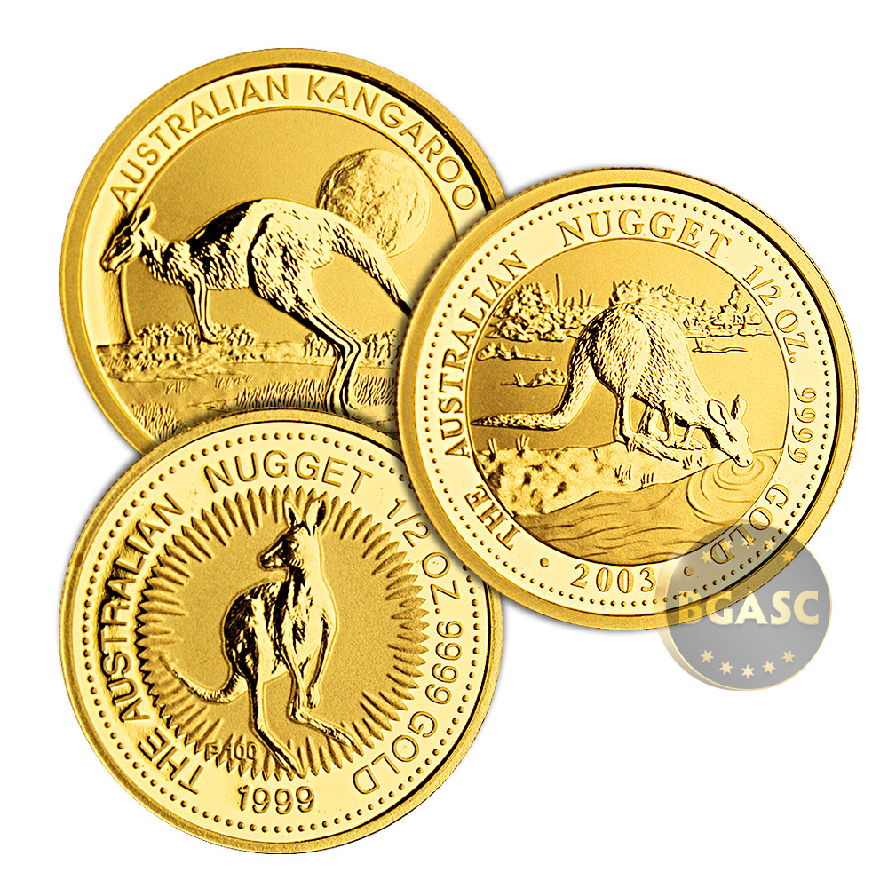 Buy Australia 1 2 Oz Gold Kangaroo Nugget 9999 Fine