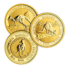 Australia 1/2 oz Gold Kangaroo/Nugget .9999 Fine Brilliant Uncirculated Coin (Random Year)