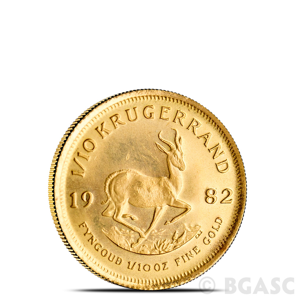 1 10 Oz Gold Krugerrand Dates Our Choice Brilliant Uncirculated Fine Image
