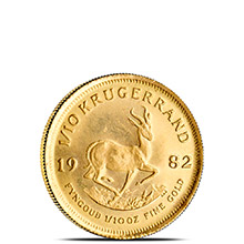 1/10 oz Gold Krugerrand - South African Bullion Coin Brilliant Uncirculated (Random Year)