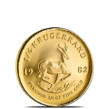 1/4 oz Gold Krugerrand - South African Bullion Coin Brilliant Uncirculated (Random Year)