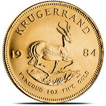 1 oz Gold Krugerrand - South African Bullion Coin Brilliant Uncirculated (Random Year)