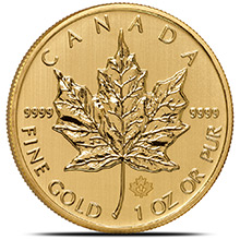 2014 1 oz Gold Canadian Maple Leaf Bullion Coin Brilliant Uncirculated .9999 Fine 24kt Gold