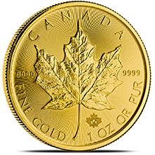 2015 1 oz Canadian Gold Maple Leaf Bullion Coin Brilliant Uncirculated .9999 Fine 24kt Gold