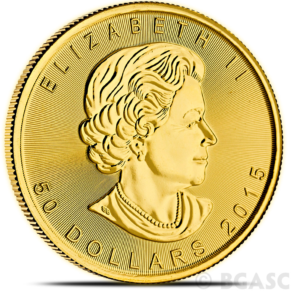 Buy 2015 1 Oz Canadian Gold Maple Leaf Bullion Coin
