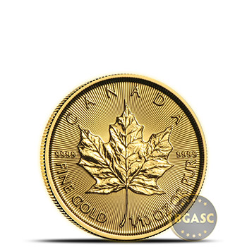 2018 1/10 oz Canadian Gold Maple Leaf Brilliant Uncirculated .9999 Fine 24kt