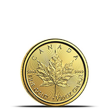 2018 1/20 oz Canadian Gold Maple Leaf Brilliant Uncirculated .9999 Fine 24kt