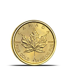 2018 1/4 oz Canadian Gold Maple Leaf Brilliant Uncirculated .9999 Fine 24kt