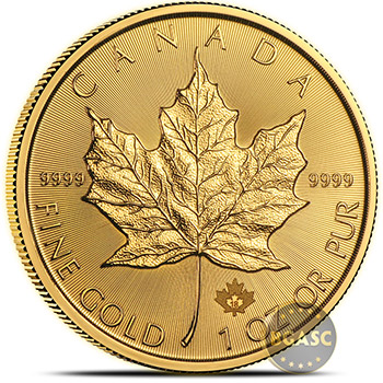 2018 1 oz Gold Canadian Maple Leaf Bullion Coin Brilliant Uncirculated .9999 Fine 24kt Gold