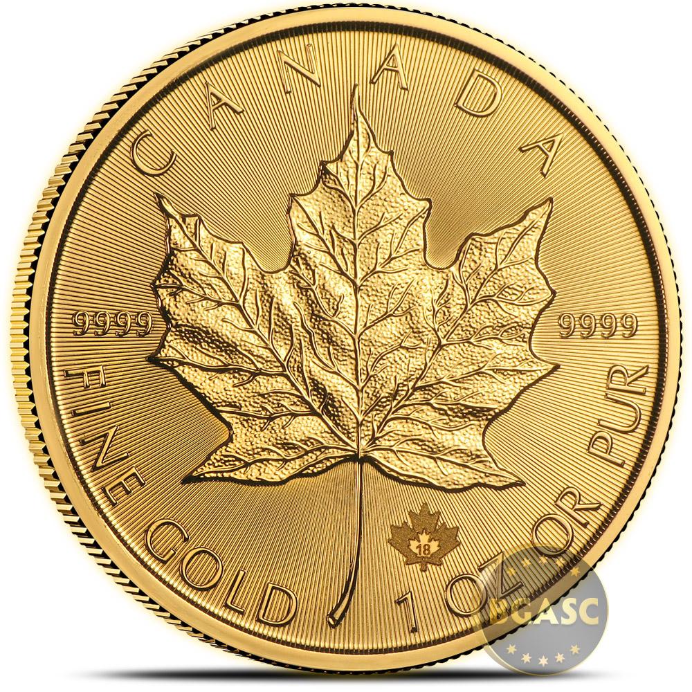 Buy 2018 1 Oz Gold Canadian Maple Leaf Bullion Coin