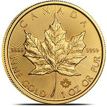 2018 1 oz Gold Canadian Maple Leaf Bullion Coin Brilliant Uncirculated .9999 Fine 24kt Gold