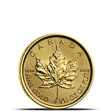 2019 1/10 oz Canadian Gold Maple Leaf Brilliant Uncirculated .9999 Fine 24kt