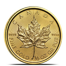 2019 1/2 oz Canadian Gold Maple Leaf Brilliant Uncirculated .9999 Fine 24kt