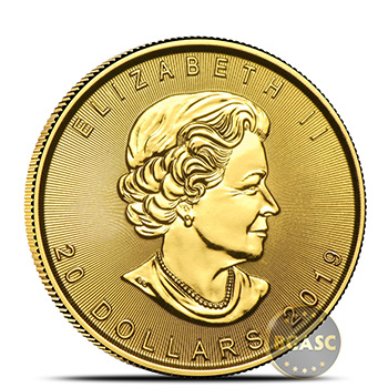 2019 1/2 oz Canadian Gold Maple Leaf BU - Image