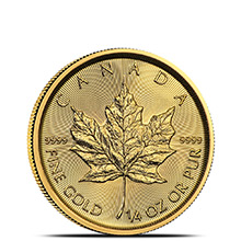 2019 1/4 oz Canadian Gold Maple Leaf Brilliant Uncirculated .9999 Fine 24kt