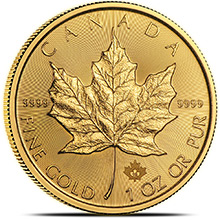 2019 1 oz Gold Canadian Maple Leaf Bullion Coin Brilliant Uncirculated .9999 Fine 24kt Gold
