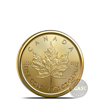 2020 1/10 oz Canadian Gold Maple Leaf Brilliant Uncirculated .9999 Fine 24kt