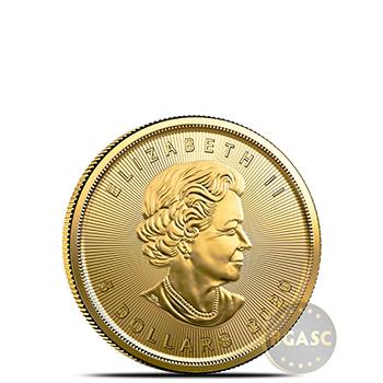 2020 1/10 oz Canadian Gold Maple Leaf BU - Image