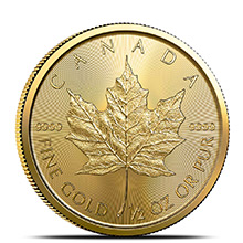 2020 1/2 oz Canadian Gold Maple Leaf Brilliant Uncirculated .9999 Fine 24kt