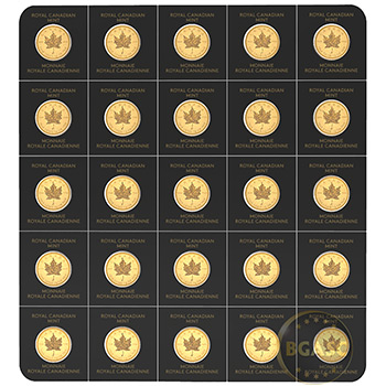 2020 Gold Maplegram25 Sealed Coin Sheet in Assay Sleeve - Image
