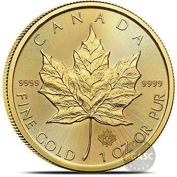 2020 1 oz Gold Canadian Maple Leaf Bullion Coin Brilliant Uncirculated .9999 Fine 24kt Gold