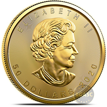 2020 1 oz Gold Canadian Maple Leaf Bullion Coin BU - Image