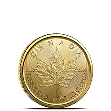 2021 1/10 oz Canadian Gold Maple Leaf Brilliant Uncirculated .9999 Fine 24kt