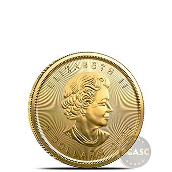 2021 1/10 oz Canadian Gold Maple Leaf BU - Image