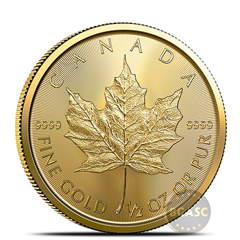 2021 1/2 oz Canadian Gold Maple Leaf Brilliant Uncirculated .9999 Fine 24kt