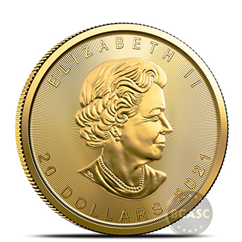 2021 1/2 oz Canadian Gold Maple Leaf BU - Image