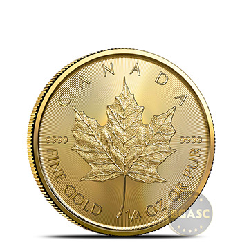 2021 1/4 oz Canadian Gold Maple Leaf Brilliant Uncirculated .9999 Fine 24kt