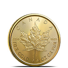 2021 1/4 oz Canadian Gold Maple Leaf Brilliant Uncirculated .9999 Fine 24kt
