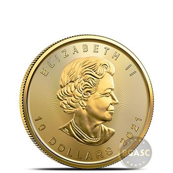 2021 1/4 oz Canadian Gold Maple Leaf BU - Image