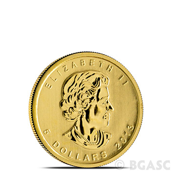Canadian Gold Maple Leaf 1/10 oz - Dates Our Choice Brilliant Uncirculated Gem .9999 Fine 24kt Gold - Image