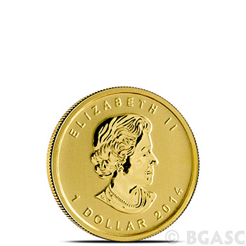 Canadian Gold Maple Leaf 1/20 oz - Dates Our Choice Brilliant Uncirculated Gem .9999 Fine 24kt Gold - Image