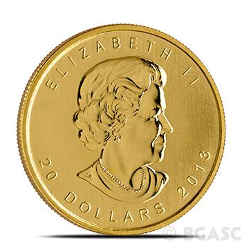 Canadian Gold Maple Leaf 1/2 oz - Dates Our Choice Brilliant Uncirculated Gem .9999 Fine 24kt Gold - Image