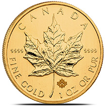 1 oz Canadian Gold Maple Leaf - Brilliant Uncirculated .9999 Fine 24kt (Random Year)
