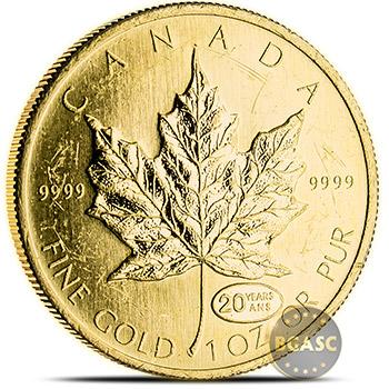 1 oz Canadian Gold Maple Leaf - Circulated / Scuffed .9999 Fine 24kt (Random Year)